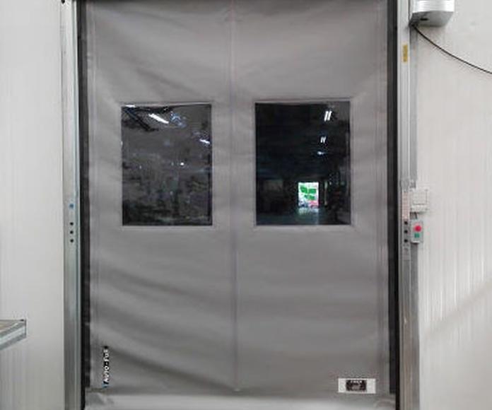 Puerta de apertura rápida de lona de pvc enrollable autorreparable Farem auto full