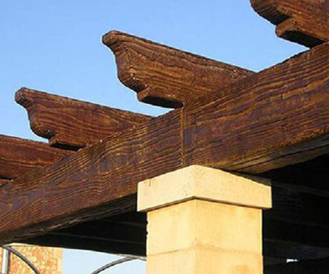 Viguetas de hormigón que imitan a la madera