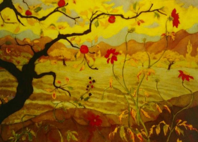Ranson. Manzano con fruto rojo (HOR) t3: CATALOGO de Quadrocomio La Casa de los Cuadros desde 1968