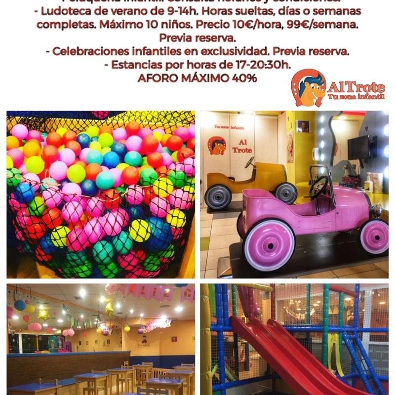 NUEVOS SERVICIOS COVID-19: NUESTROS SERVICIOS de AL TROTE ZONA INFANTIL