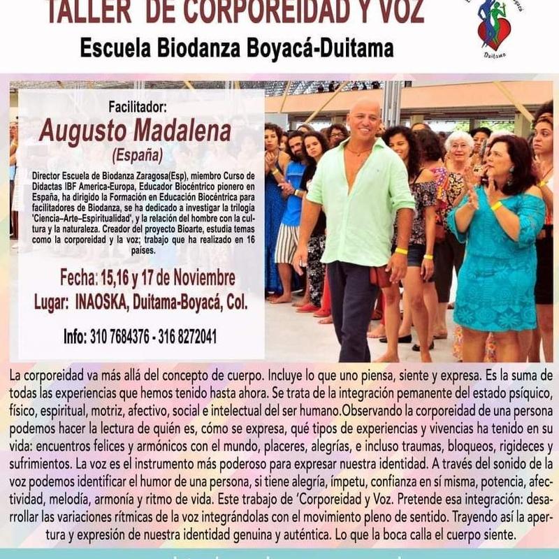 Taller 'Corporeidad y Voz': CURSOS de Augusto Madalena
