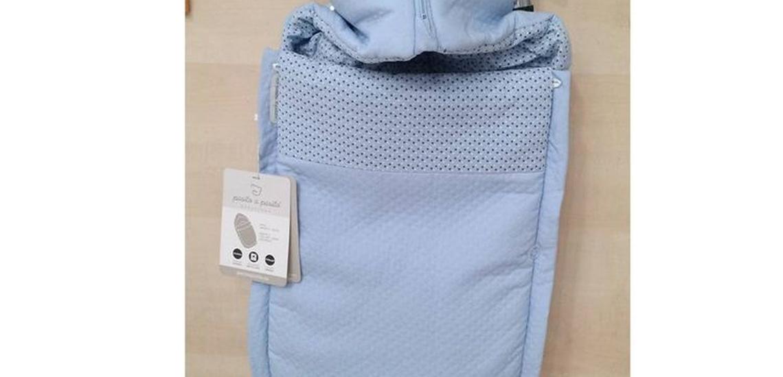 Sacos para silla de bebé en Pontevedra. Color azul.