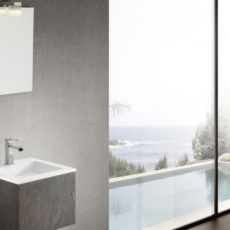 Mueble de baño Vidrebany colección Cube modelo Stone