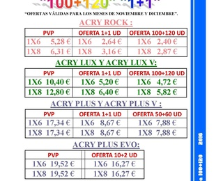 Oferta 100+120, 1+1