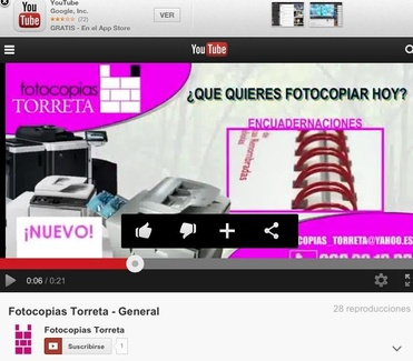 Fotocopias TORRETA en YOU TUBE