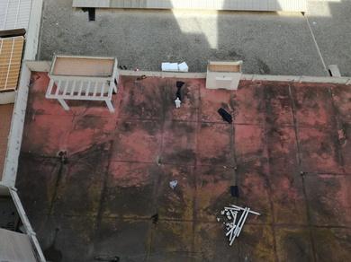 Dirección y coordinación de desamiantado de bajantes y limpieza de fachada trasera