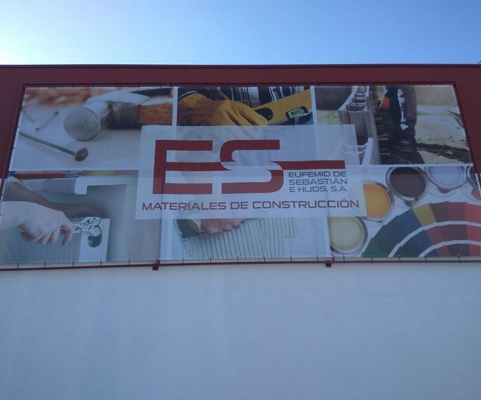 Venta de materiales de construcción: Productos y servicios de Eufemio de Sebastián e Hijos