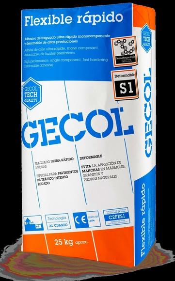 Gecol Flexible Rápido : Catálogo de Materiales de Construcción J. B.