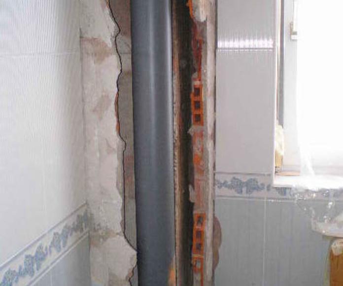 Instalación de bajante de PVC
