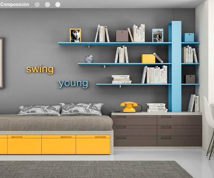 Dormitorio juvenil composición 15