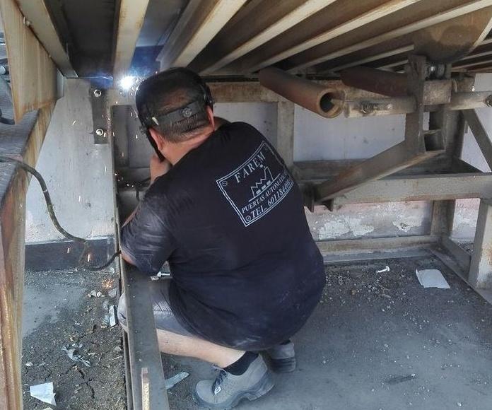 plataforma de carga manual soldadura refuerzo en Silla