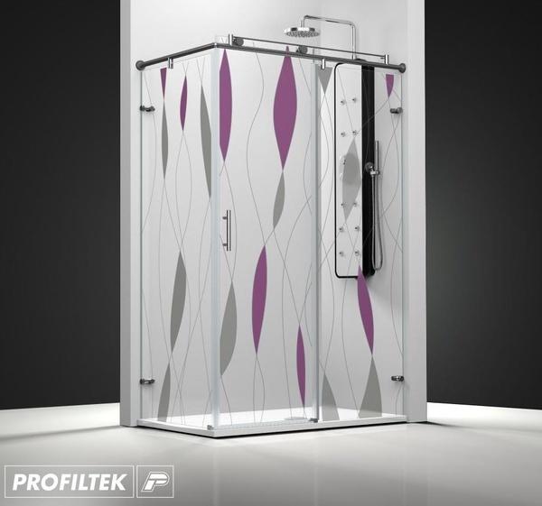 Mampara de baño Profiltek corredera serie Steel modelo ST-201 Classic decoración fashion