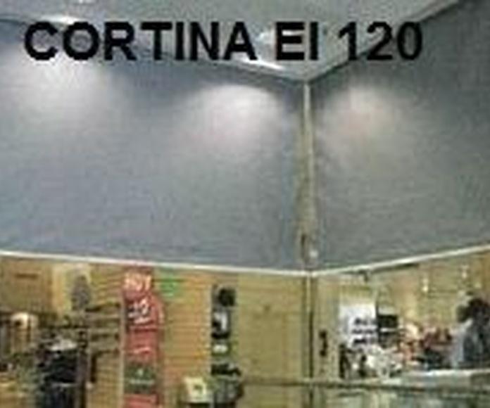 Cortina textil Cortafuegos