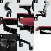 características técnicas del sillón ergonómico modelo radius-03