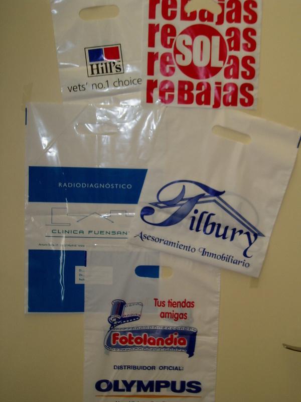 Bolsas de asa troquelada: Productos de Plásticos Yolanda