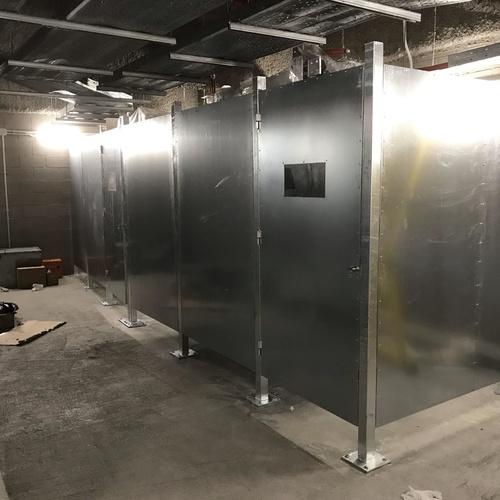 Cerramiento metálico para la nueva fase del Camp nou. Barcelona