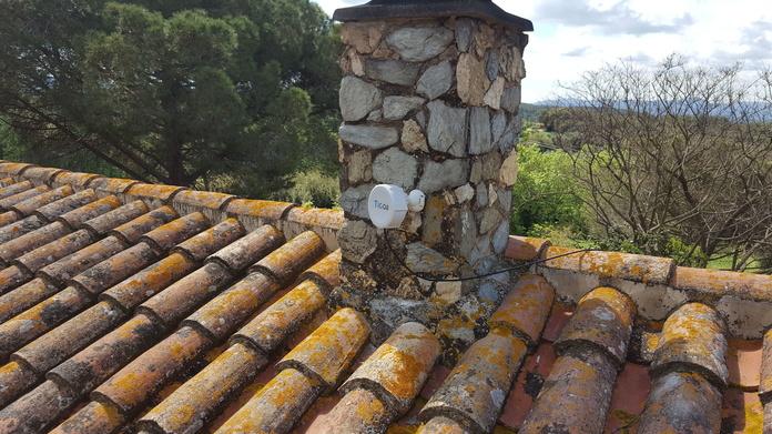 Antena receptora de internét vía radio