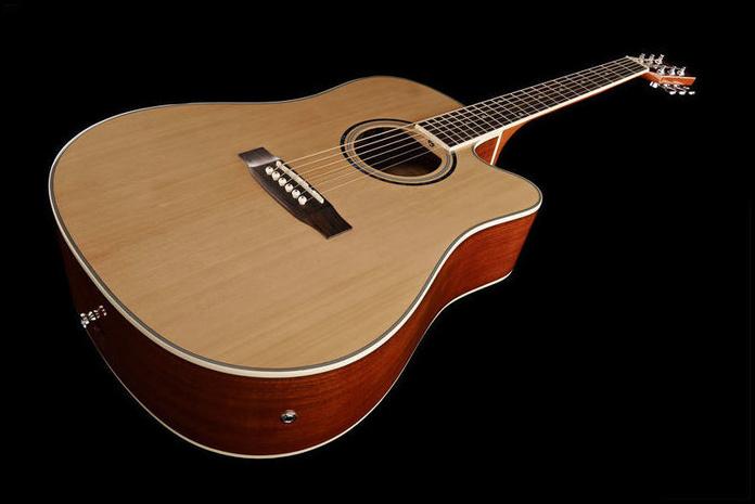 Guitarra electroacústica barata iniciación buena calidad Harley Benton