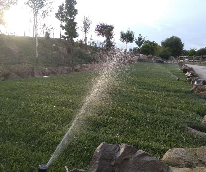 Instalación de sistemas de riego: Servicios  de Jardinería Garrotxa