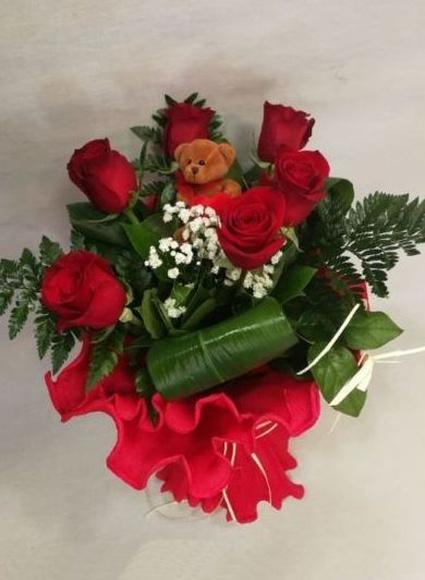 Rosas con peluchín: Catálogo de Regalos de Floresdalia.com