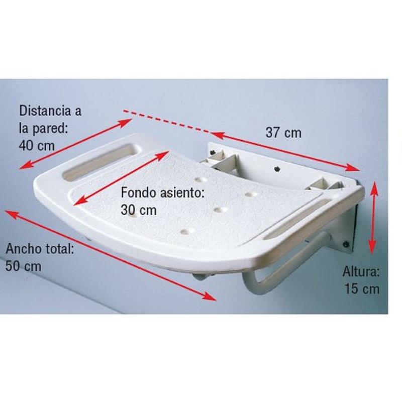 Asiento ducha abatible pared: Productos de Ortopedia Hospitalet