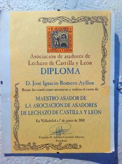Asociación de asadores de lechazo Castilla y León