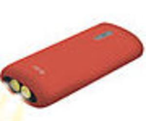 BATERIA AUXILIAR KSIX CON LINTERNA 4000 MAH + CABLE MICRO USB-USB 70 CM ROJ