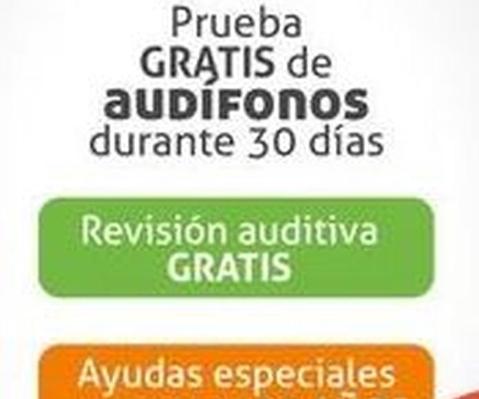 Revisión auditiva gratuita: Productos y Servicios de Centro Auditivos