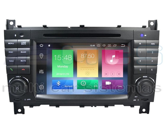RADIO GPS PANTALLA TACTIL ANDROID MERCEDES CLASE C W203 CLK W209 RESTYLING