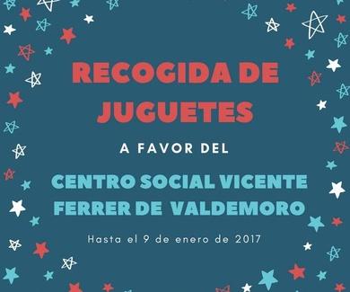 Recogida solidaria de juguetes a favor del Centro Social Vicente Ferrer