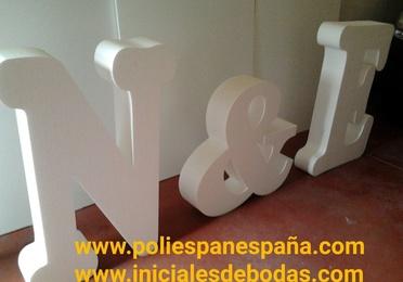 INICIALES 3D GIGANTES DE CORCHO BLANCO A MEDIDA ( POLIESPAN,POREXPAN,EPS )