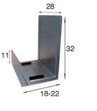 soporte de cpu de fijación lateral. Atornillable con tirafondos a lateral de mesa