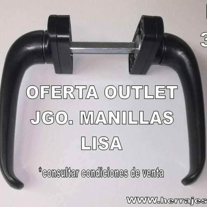 Oferta Outlet Jgo. Manillas Lisa : Productos de Serysys