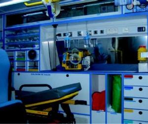El equipamiento de una ambulancia