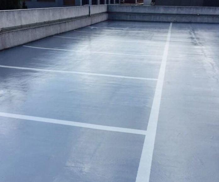 Pavimento nuevo de resina de poliuretano