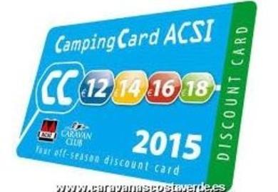 Tarjeta Camping ACSI