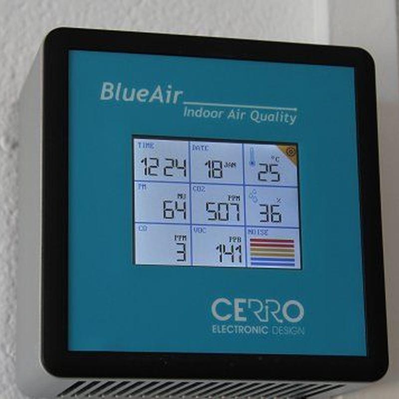 Blueair, indoor air quality sensor: Services de Cerro Electronic Design, S. L.