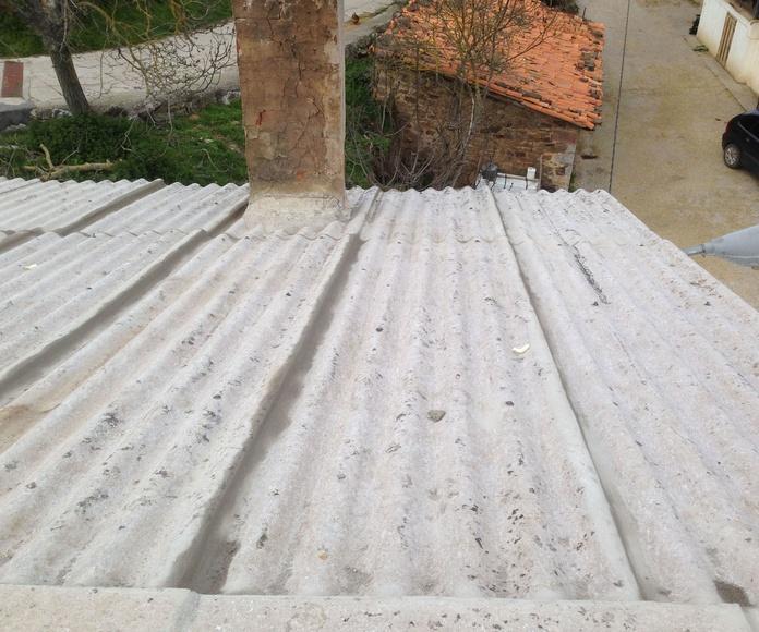 limpieza de tejados de uralita Santander-Torrelavega