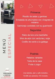 Restaurante Somallao Rivas Menú Especial 25 al 31 de Agosto de 2021