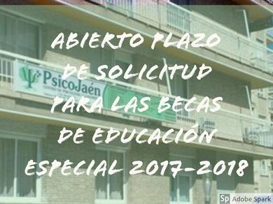 ABIERTO EL PLAZO DE SOLICITUD PARA LAS BECAS DE EDUCACIÓN ESPECIAL PARA EL CURSO 2017-2018
