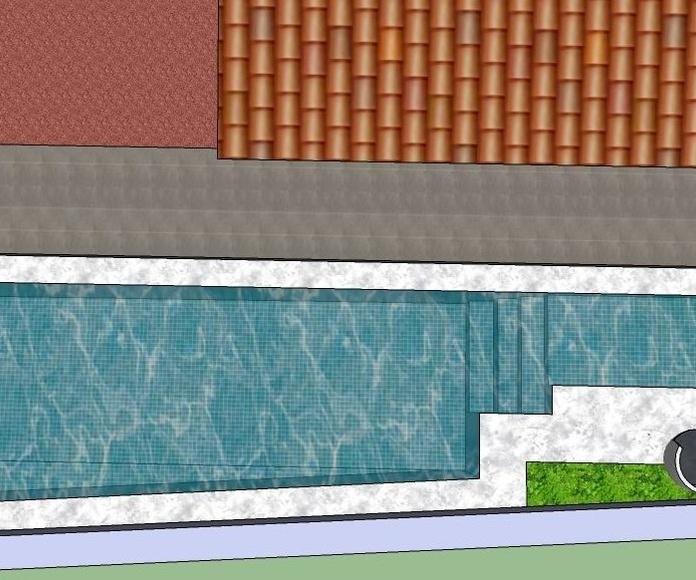 Diseño 3D piscina de obra Paracuellos del jarama