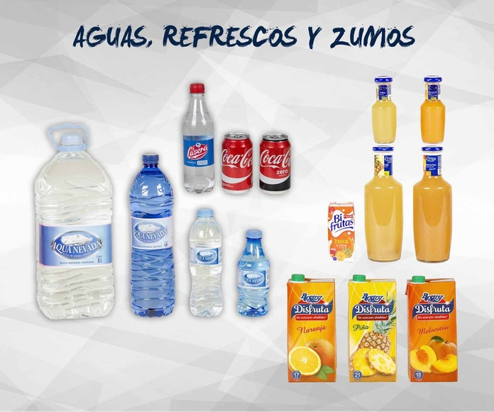 Aguas, refrescos y zumos: Productos de Exclusivas San Luis