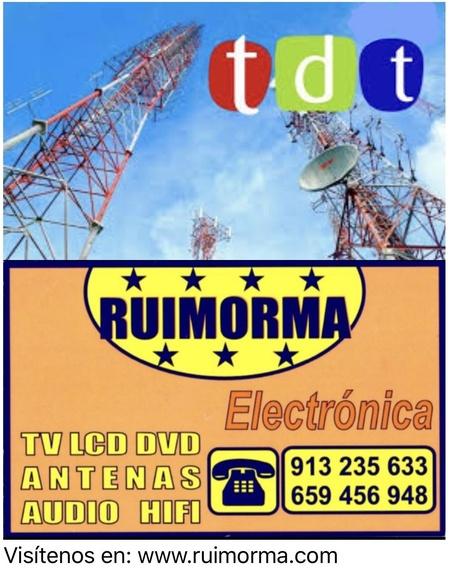 Con RUIMORMA reparación de antenas en El Barrio del Pilar