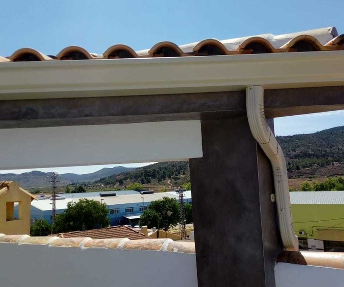 Canalones de aluminio en Alicante