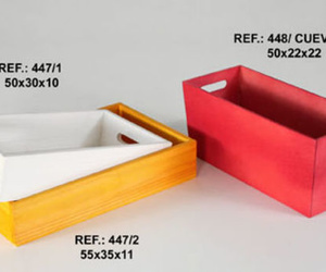 Diferentes tipos de cestas de colores