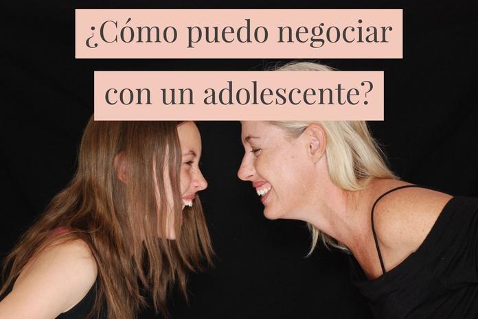 ¿Cómo puedo negociar con un adolescente?