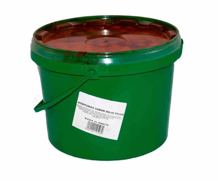 Aceitunas Sabor Mojo Picón Cubo de 3 Kgs. Marca ELOVI