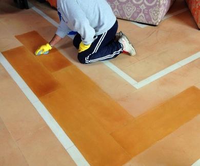 Recuperamos pavimentos de barro/terracota.