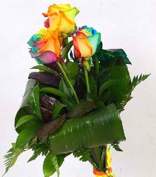 Rosas arcoiris naturales: Catálogo de Regalos de Floresdalia.com