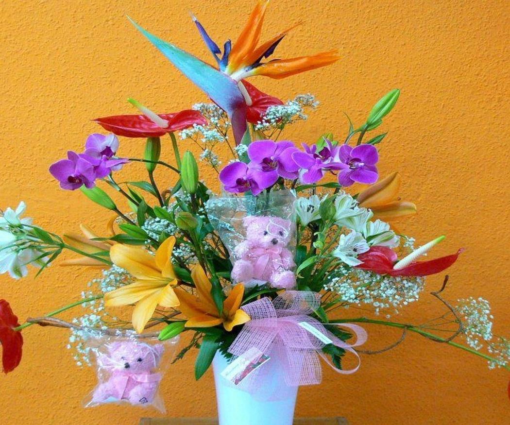 Las flores por el nacimiento de un bebé